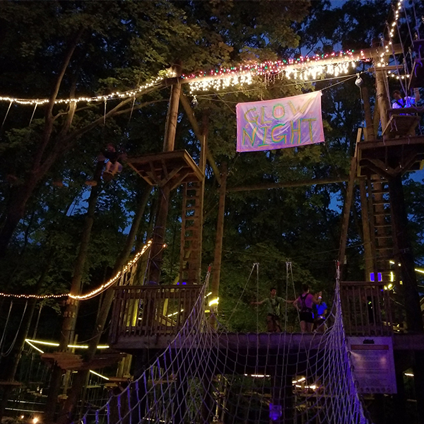 You Haven't Experienced TreeRunner Grand Rapids Without A Glow Night