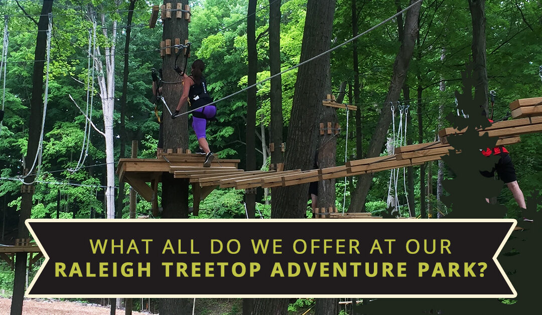 What All Do We Offer At Our Raleigh TreeTop Adventure Park?